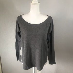 PINK Victoria's Secret Gray Long Sleeve Flowy Top